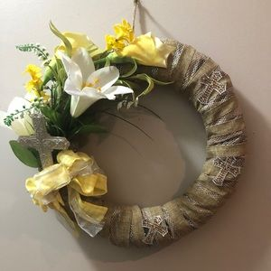 Easter wreath with cross